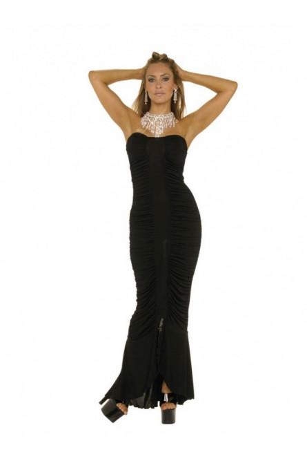 Платье черное русалка