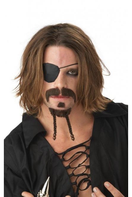 Бородка и усы мачо-пирата
