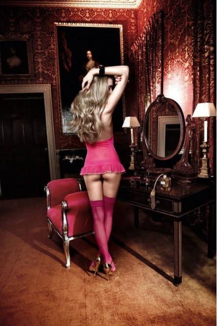 Неглиже розовое