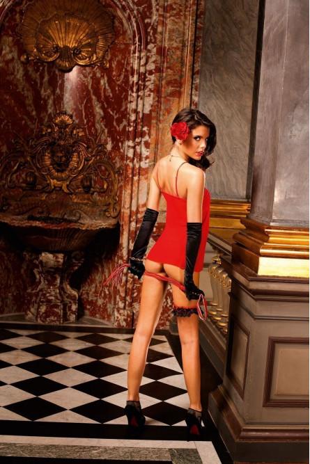 Сорочка красная классическая
