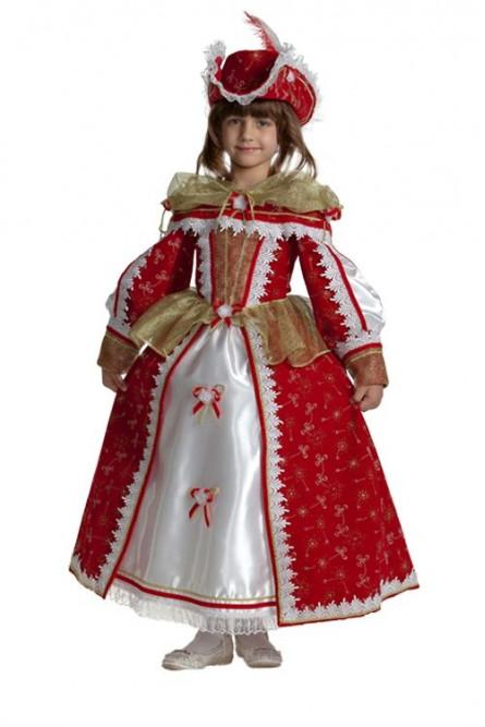 Детский костюм королевы мушкетеров