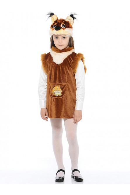 Детский костюм белочки коричневый