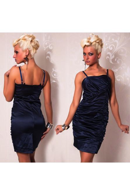 Синее платье карандаш