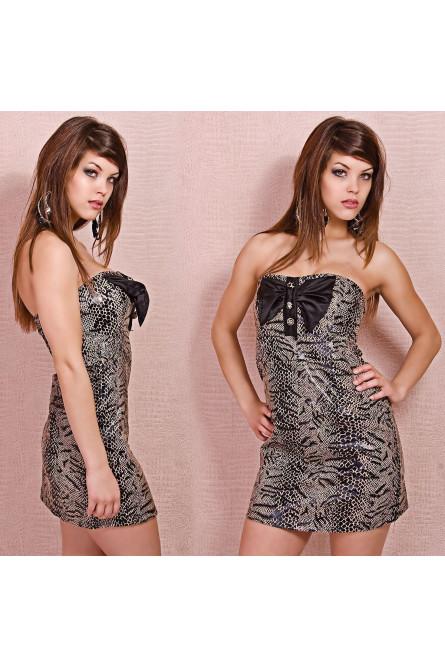 Змеиное мини-платье