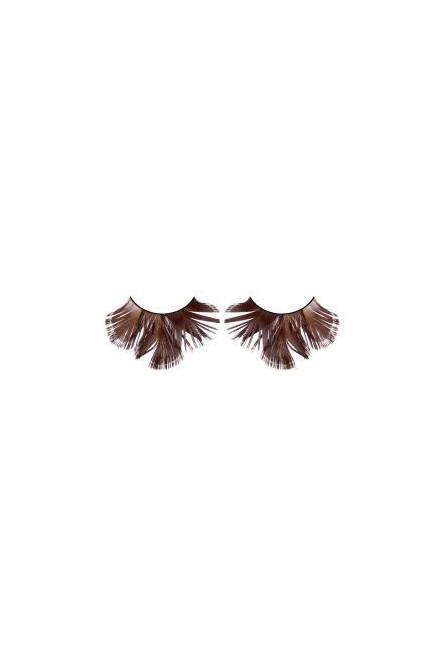 Ресницы коричневые с перламутром