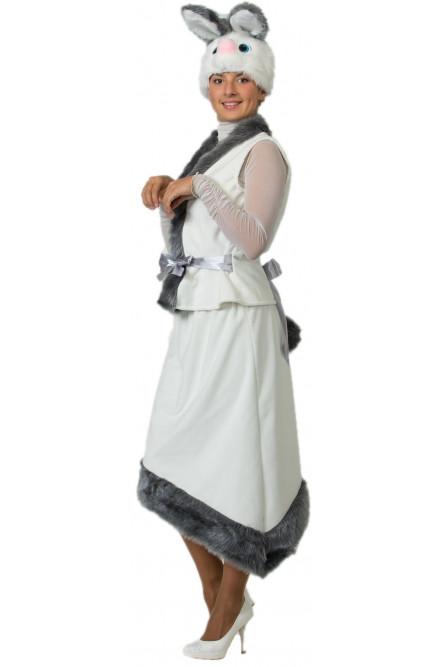 Плюшевый костюм Белой Зайки