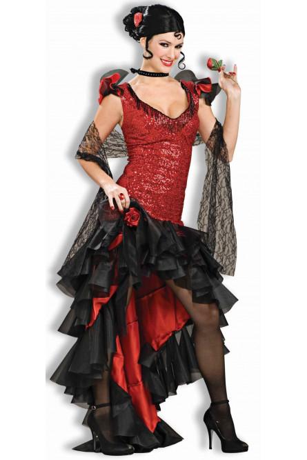 Костюм испанской танцовщицы фламенко