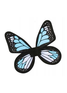 Атласные крылья Бабочка голубые