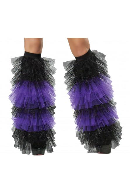 Набор из тюли фиолетовый