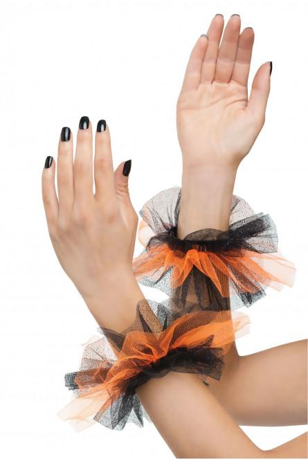 Набор аксессуаров из тюли оранжевый