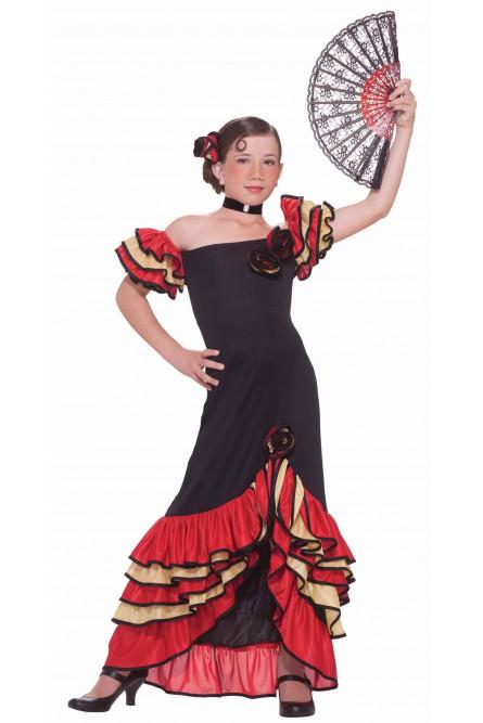 Костюм танцовщицы фламенко детский
