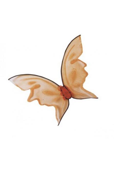 Яркие оранжевые крылья бабочки