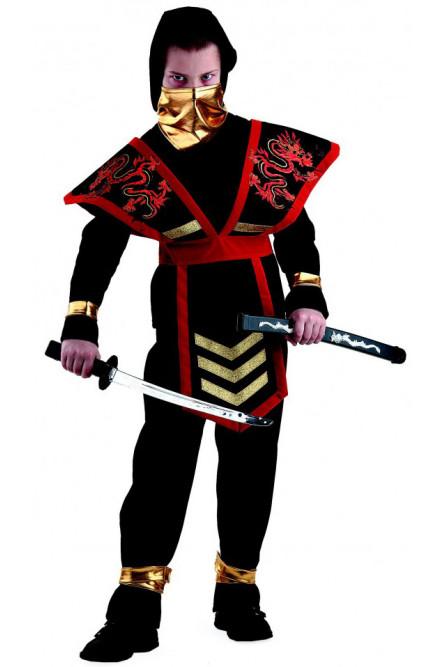 Карнавальный костюм Ночной Мастер-Ниндзя красный