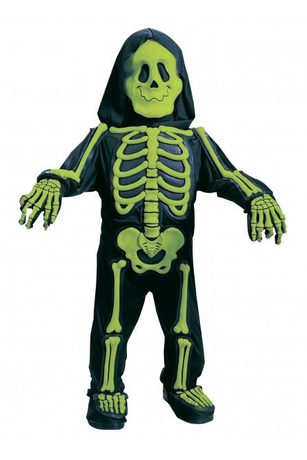 Костюм малыша-скелетончика зеленый