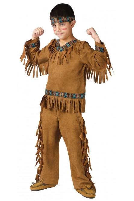 Детский коричневый костюм Индейца