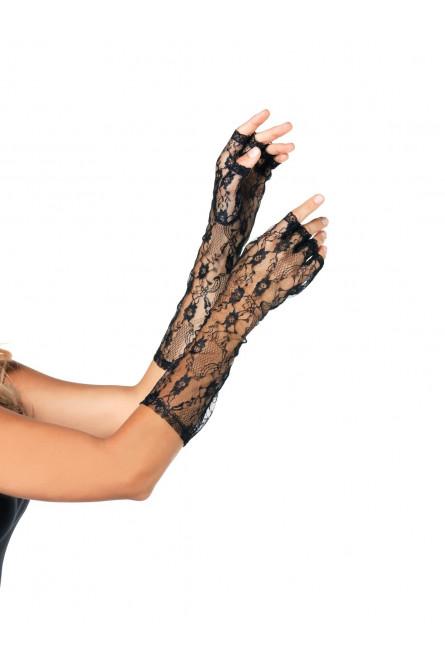 Перчатки кружевные без пальцев