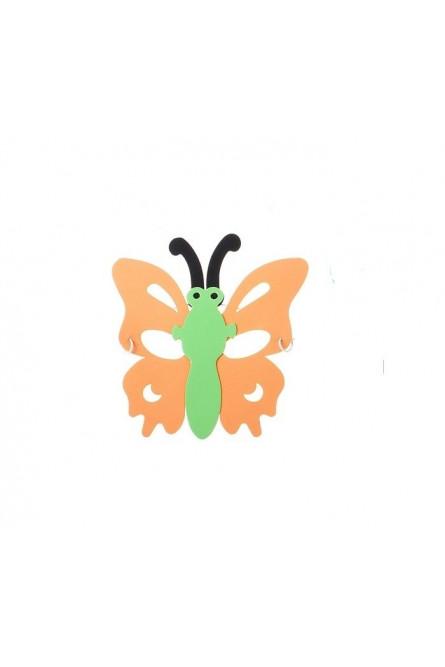 Маска в форме бабочки оранжевая