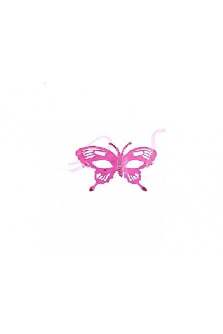 Маска цвета фуксии в форме бабочки