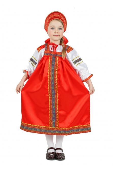 Атласный красный костюм Настенька
