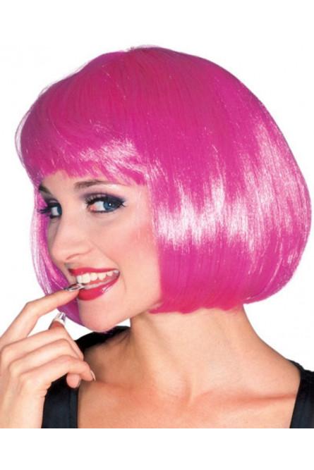 Ярко-розовый парик модели