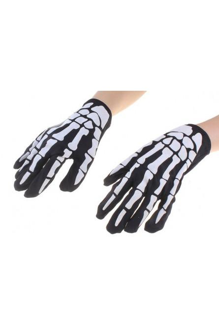 Перчатки Руки скелета черные