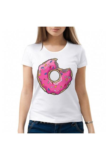 Женская футболка Пончик