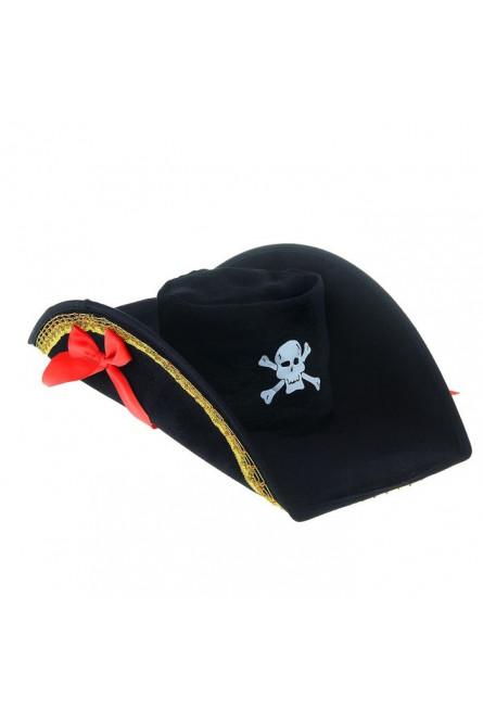 Шляпа пиратки с бантами