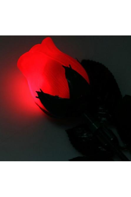 Световая красная роза