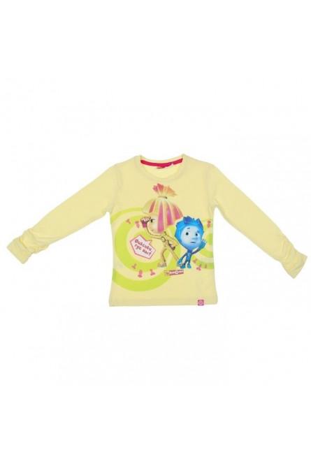 Желтая футболка для девочки Детские Ремонтники