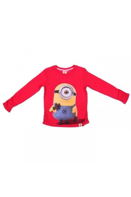 Красная футболка для девочек Миньоны