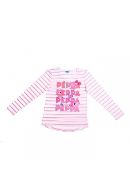 Полосатая футболка для девочек Свинка Пеппа