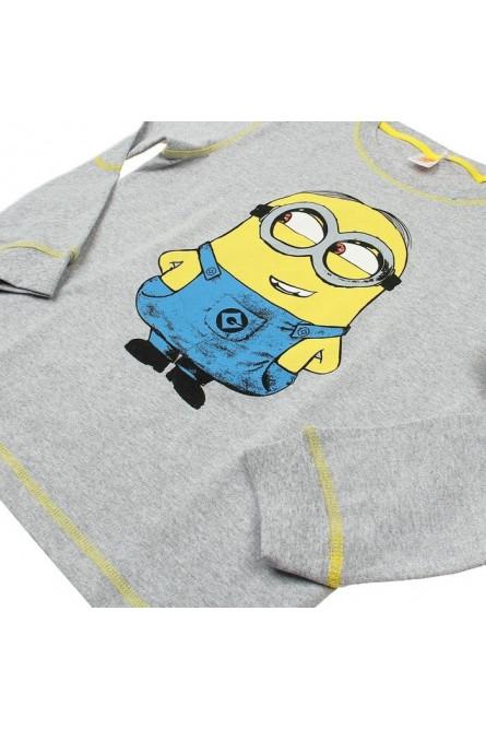 Серая футболка для мальчика Миньона