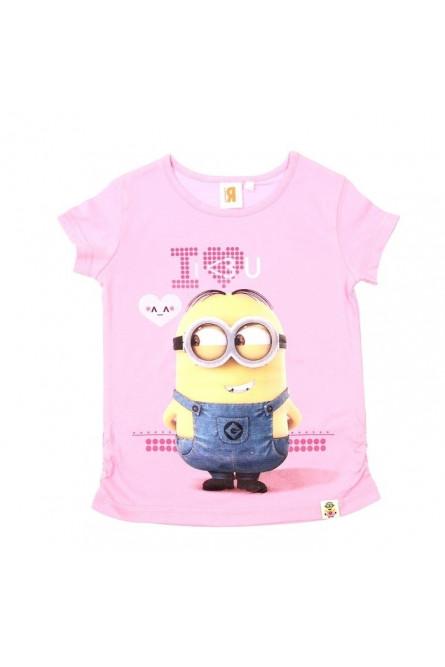 Розовая футболка Миньон