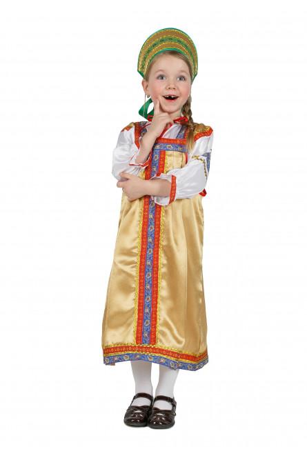 Детский костюм Василисы золотой
