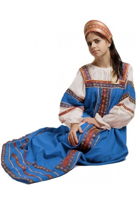 Русский костюм Забавы синий