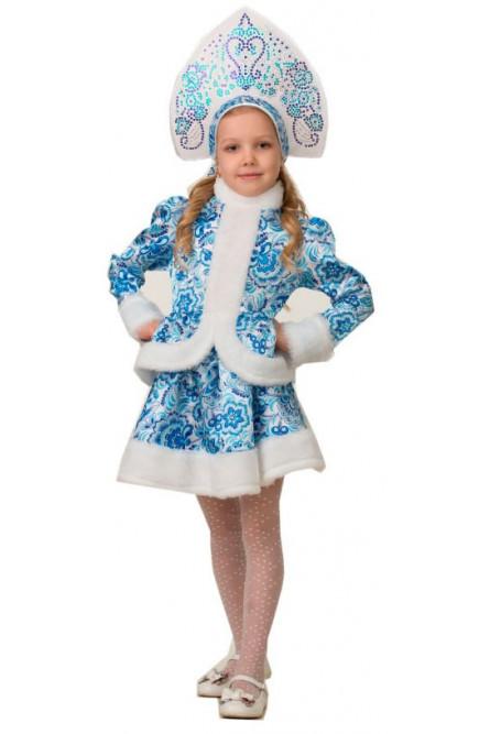 Детский костюм Снегурочки Гжель