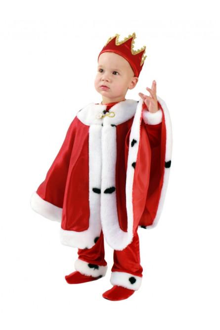 Детский костюм Короля красный
