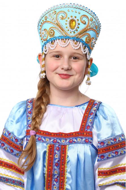 Бирюзовый кокошник Княжна