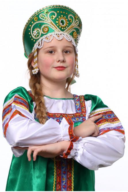 Зеленый кокошник Княжна