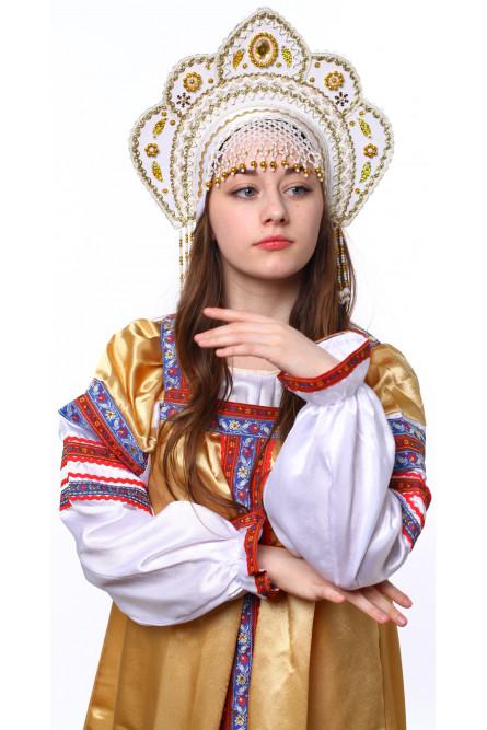 Белый кокошник Фантазия