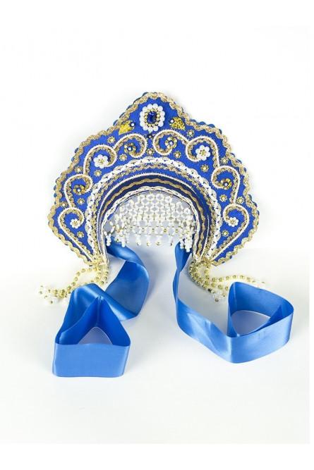 Синий кокошник Фантазия детский