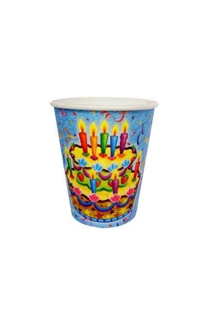 Бумажные стаканы Праздничный торт