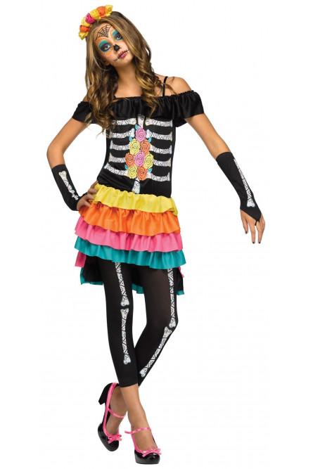 Подростковый костюм День Мертвых