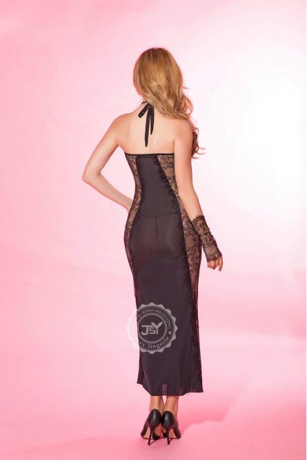 Сетчатое ажурное платье