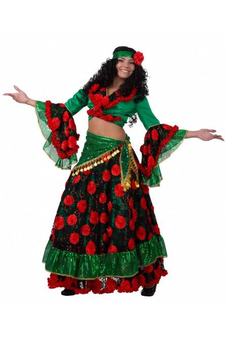Красно-зеленый костюм цыганки