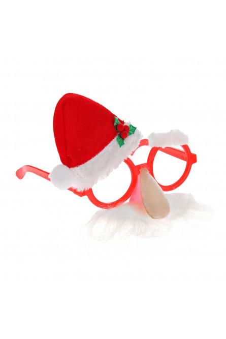 Новогодние очки с усами