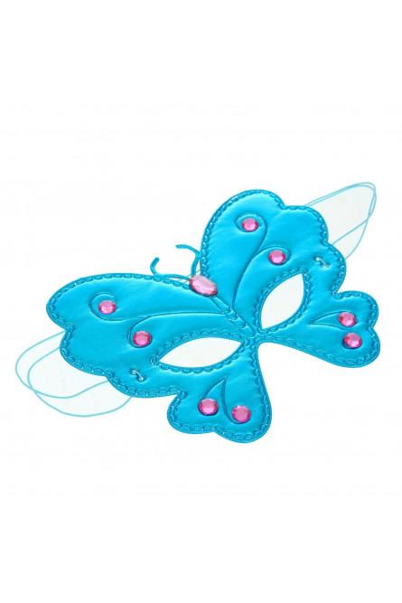 Голубая маска на глаза Бабочка