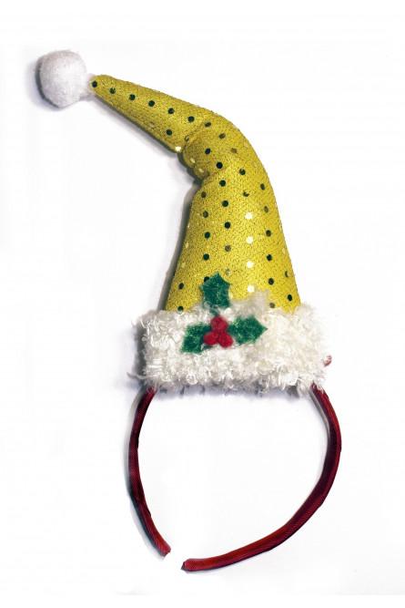 Новогодний ободок Желтый колпак