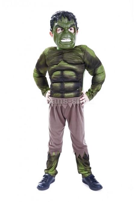 Детский костюм Халка с мышцами