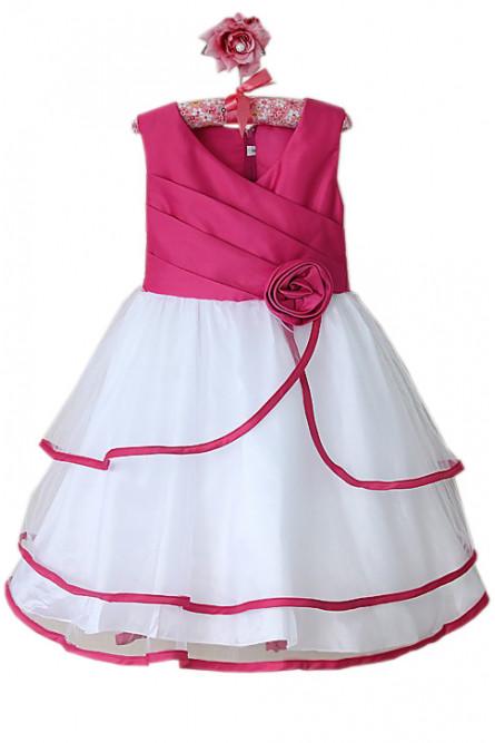 Розово-белое платье
